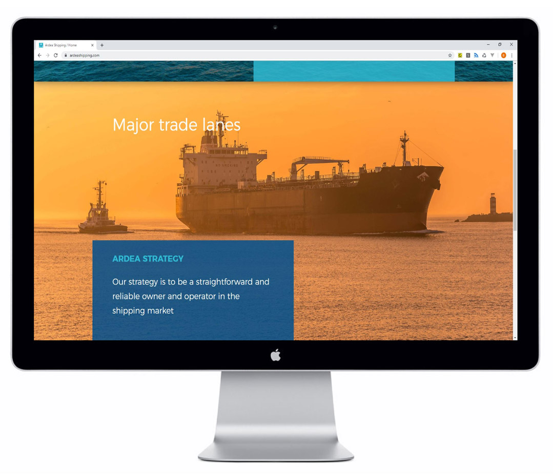 Ontwerp responsive website Ardea shipping