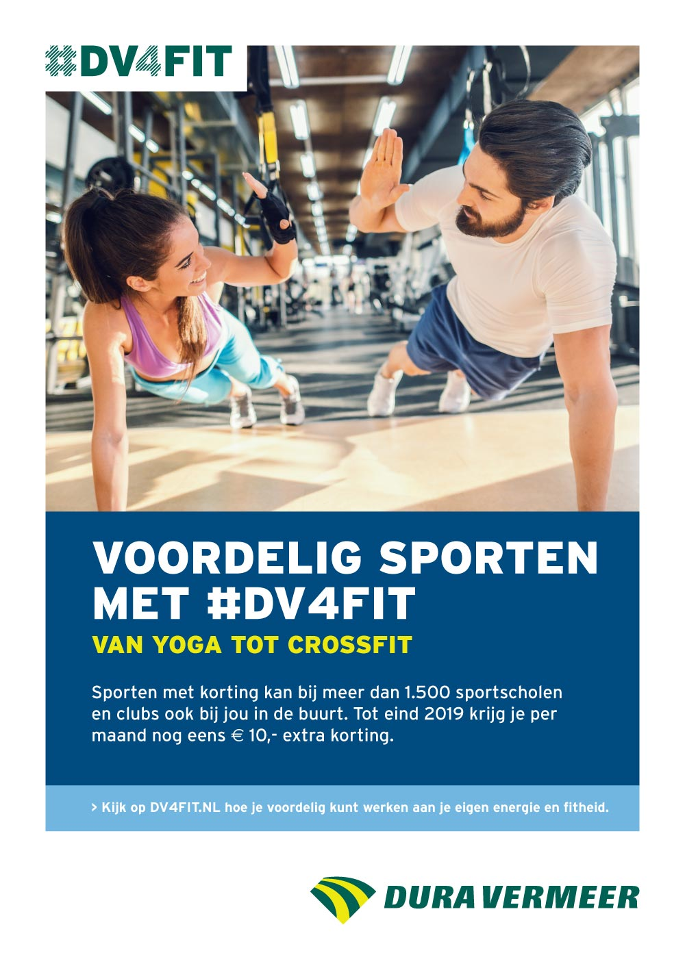 Ontwerp poster #DV4FIT