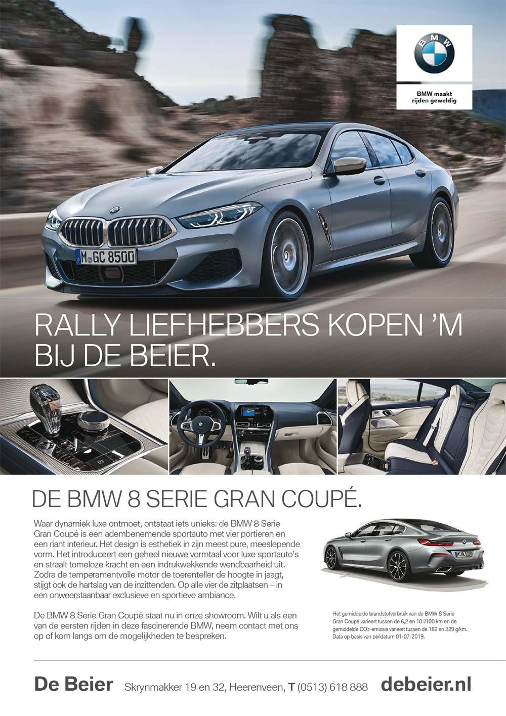 Advertentie BMW 8 Gran Coupe