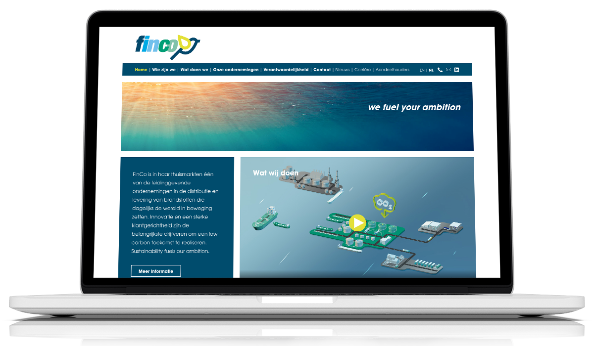Website Finco Fuel door Esens Design ontworpen en gebouwd