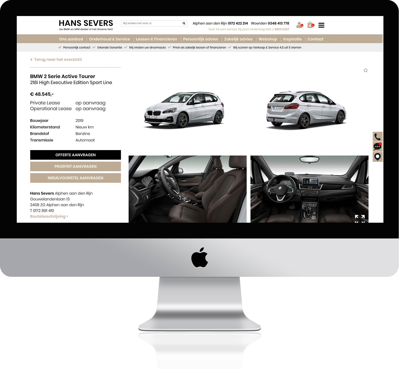 Detailpagina website
