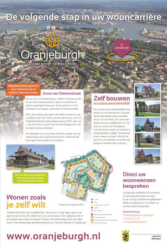 Advertentie Oranjeburgh door Esens Design