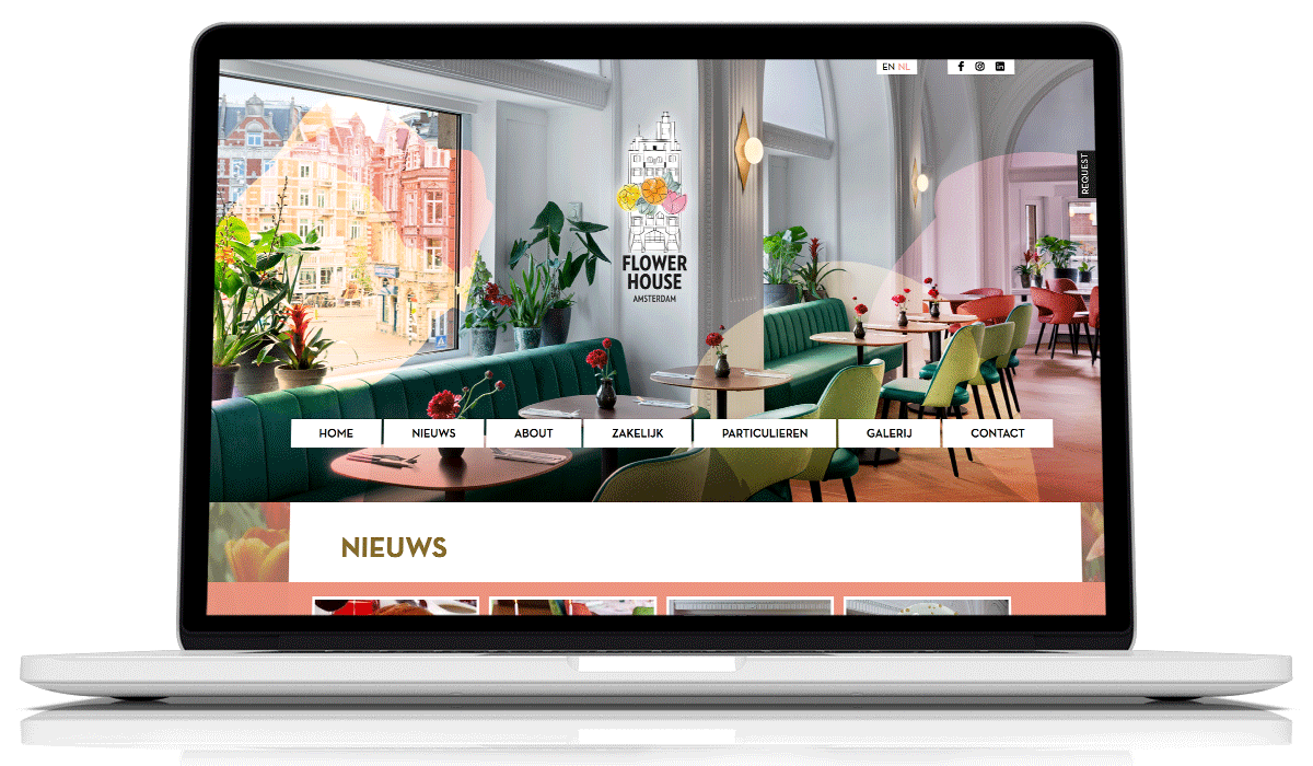 Website Flowerhouse Amsterdam
